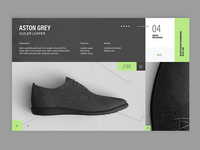 UI Shoe e-commerce page design