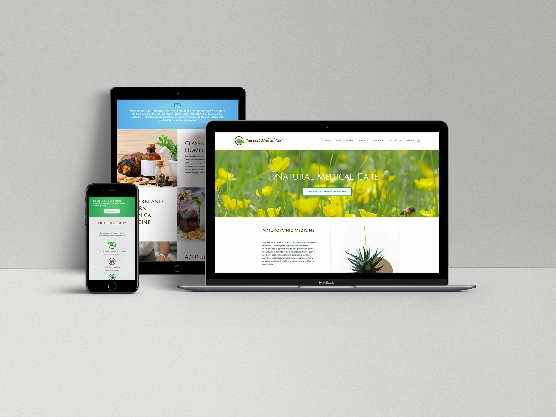 Natural Medical Care by Brian White on Dribbble