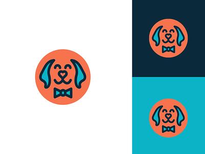 Dapper Dogs logo design concept logo a day bow tie blue illustration cute simple branding brand logo design logo dog