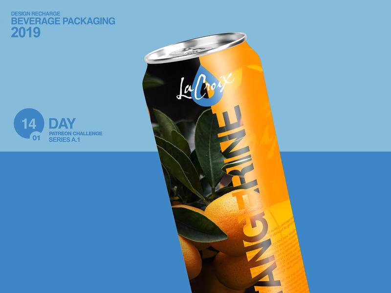 Lacroix Tangerine helvetica water drink collage logo packaging design design beverage packaging