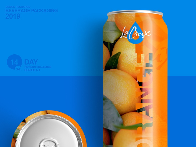 La Croix Orange water packaging design brand design branding rebrand logo design logo design packaging