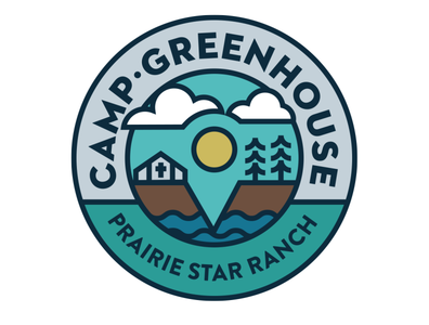 Camp Greenhouse badgedesign logotype camp gps pin illustration vector circle badge design logo design logo badge