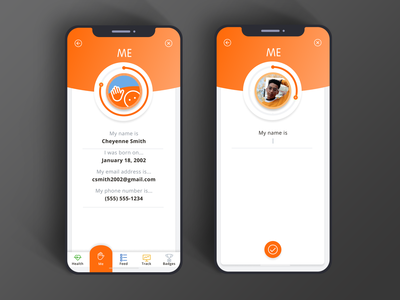 Health Care App / Me Screens uidesign user interface mobile app ux ui uiux