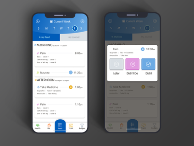 Healthcare App - Feed Screen app design icon ui web ios guide app design interface mobile uxdesign uidesign ux ui vector