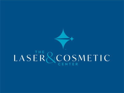 Laser & Cosmetic Center logos logo design logotype typography design brian white branding blue vector logo