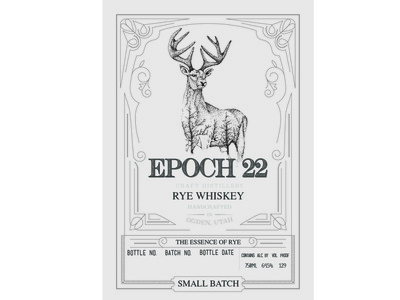 Epoch 22 Rye Whiskey typography distillery alcohol packaging package mockup package design packagedesign package logo illustration design branding