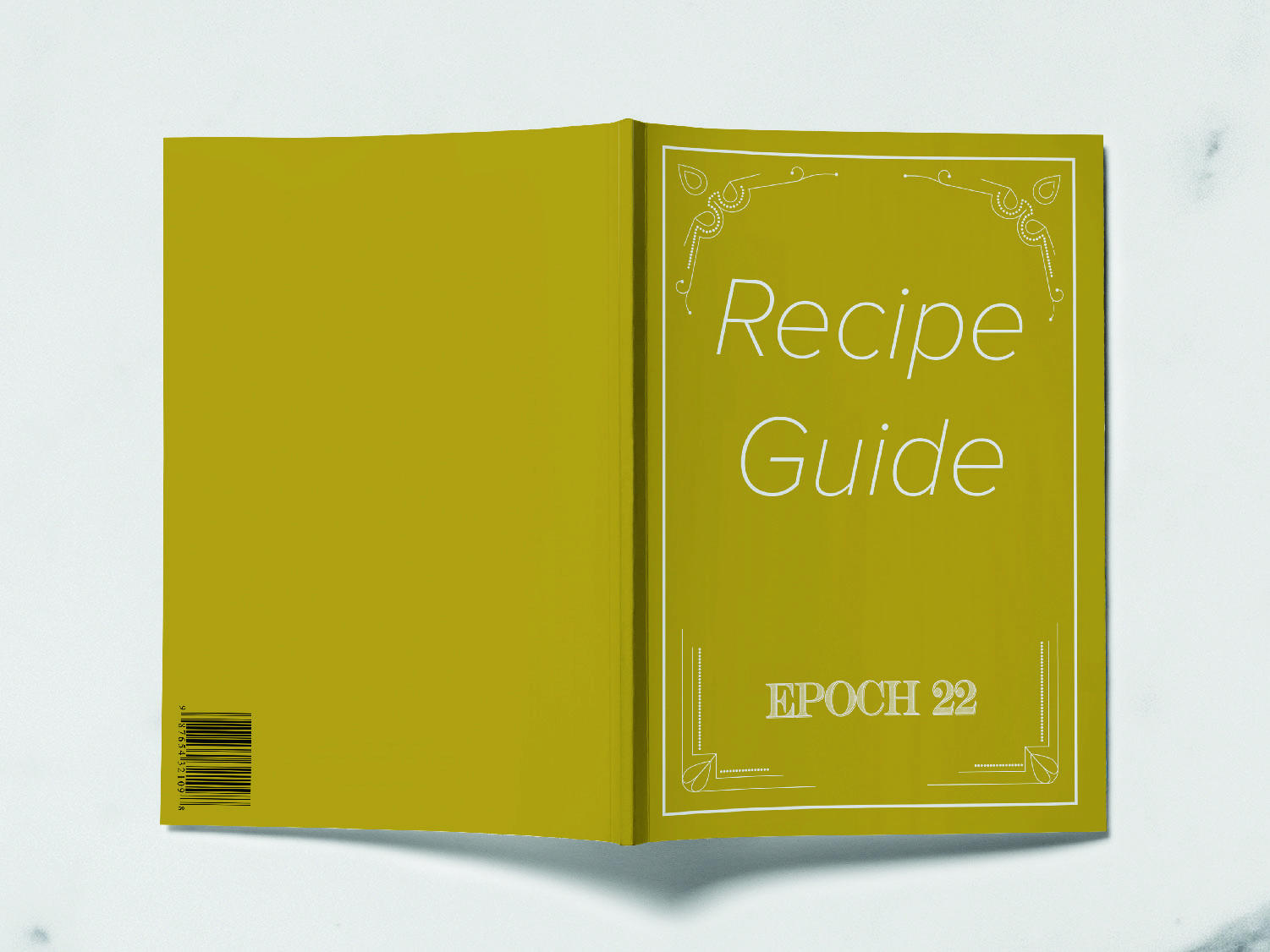 Epoch 22 Recipe Guide recipe book recipe typography distillery alcohol packaging package mockup package design packagedesign package logo illustration design branding