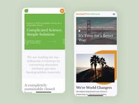 Mango Materials Mobile Tour pwa progressive web app interaction design interaction web mobile biodegradable sustainability gif mobile ui ux ui design identity branding laxalt brooklyn nevada reno