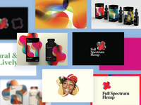 Full Spectrum Hemp Concept Lookbook texture gradient cbd spectrum denver hemp health identity packaging design typography branding laxalt illustration brooklyn nevada reno
