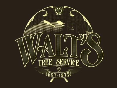 Walts Tree Service Typography