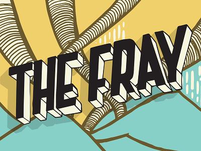 Fray Backdrop Artwork laxalt nevada reno music illustration typography lettering fray
