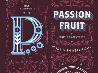 Passionfruit Label