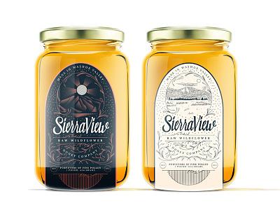 Sierra View Honey Exploration new york city brooklyn mountains lettering filigree nevada reno valley washoe view sierra honey