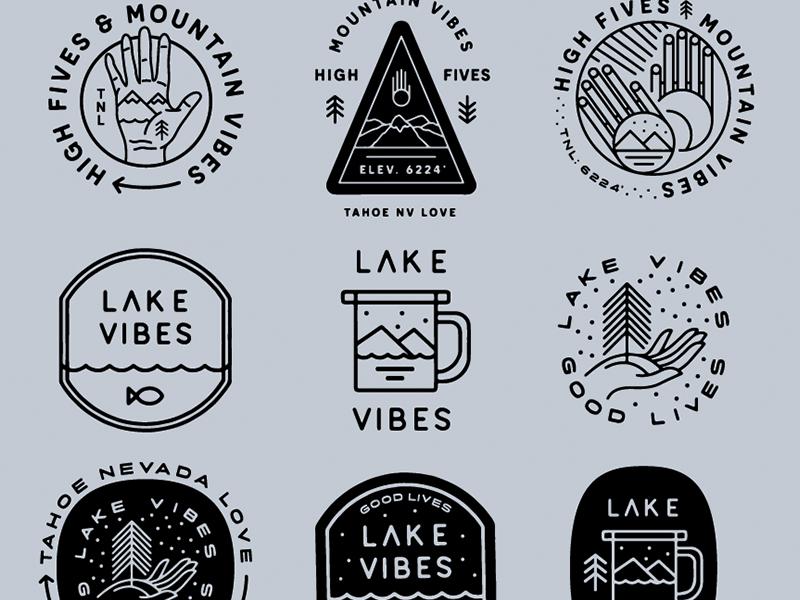 🌊  Lake Vibes new york brooklyn fives water fish badges reno mountain lake love nevada tahoe