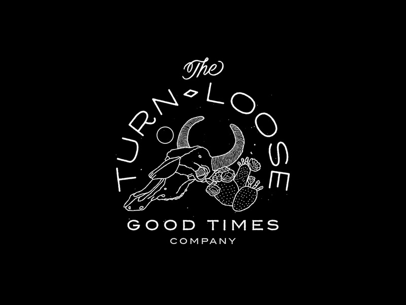 Turn Loose Good Times Co bikes good times identity branding linework illustration typography new york city brooklyn nevada reno