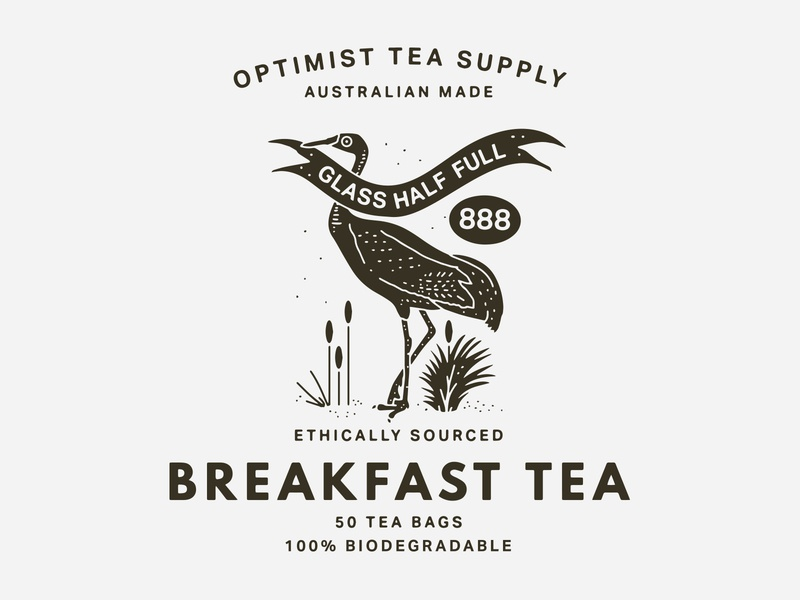 Optimist - Crane identity packaging tea packaging tea new york city nevada brooklyn reno australia good luck crane