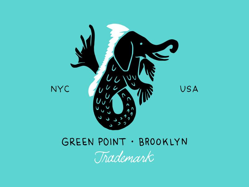 Sea Elephant identity branding elephant logo handlettering greenpoint seahorse elephant illustration brooklyn nevada reno