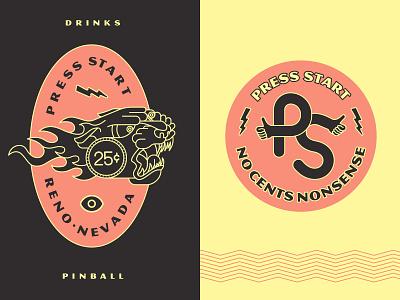No Cents Nonsense illustration brooklyn nyc brooklyn nevada reno identity games cocktails bark quarters pacman pinball barcade arcade