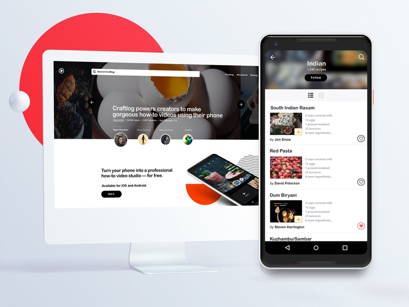 🤘😭Google Play Best of 2018: Craftlog new york city identity branding laxalt nyc brooklyn nevada reno creators search tasks how to cooking recipes product design ux ui