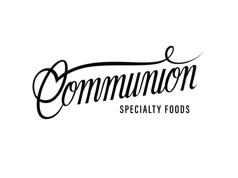Communion Specialty Foods logo handlettering nyc new york city brooklyn nevada reno lettering script lettering branding identity packaging food nutrition specialty organic foods fermented script typography