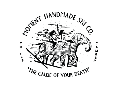The Cause of Your Death illustration art cowboys bandits elephant illustrator design handlettering tahoe new york identity nyc branding new york city laxalt linework illustration brooklyn nevada reno
