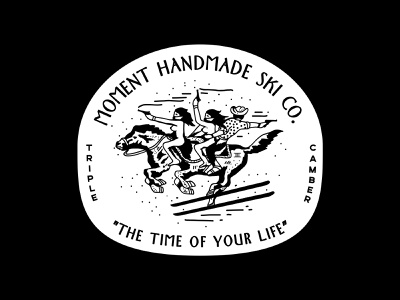 The Time of Your Life bandito guns gun bushwick handmade craftsman time cowboy horses bandit horse skiing branding new york city laxalt linework illustration brooklyn nevada reno