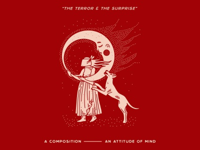 The Terror & The Surprise nyc lettering typography branding new york city laxalt linework illustration brooklyn nevada reno woman warmth flame fire music record ep dog moon
