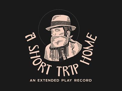 A Short Trip Home - An Extended Play Record identity nyc lettering typography branding new york city laxalt linework illustration brooklyn nevada reno music record home bandana beads bandit bandito cowboy