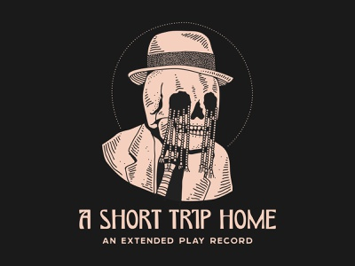 A Short Trip Home - An Extended Play Record beads coffee new york packaging identity nyc lettering typography branding new york city laxalt linework home music record skull illustration brooklyn nevada reno