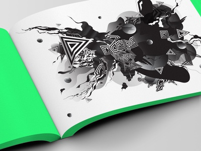 Nike WAS Book artist series world cup nike artwork abstract bw black  white photoshop illustrator illustration book
