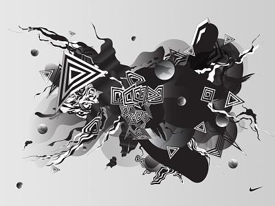 Nike World Cup artist series nike digital art photoshop illustrator abstract artwork art