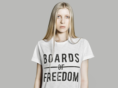 Boards of Freedom photography art direction graphic design design t-shirt design typography clothing design