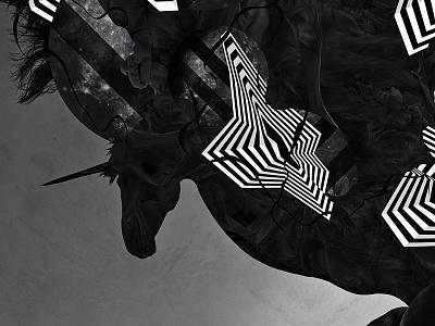Black unicorns adobe illustrator adobe photoshop pos production photography canvas abstract artwork art digital art
