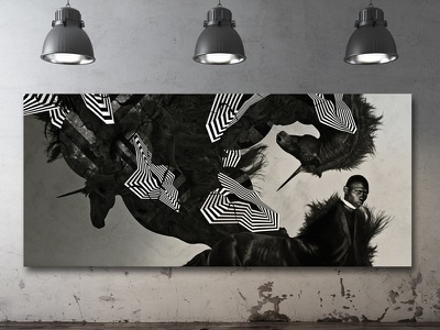 Black unicorns adobe digital art photoshop illustrator abstract artwork art