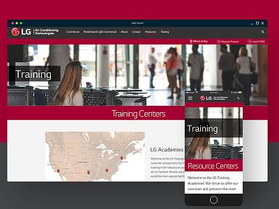 LG HVAC Web Design responsive mobile ux website