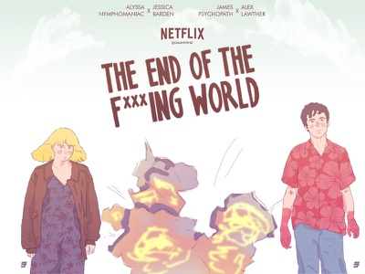 The end of the F****** world illustration illustrator alex lawther jessica branden galihwind alyssa james the end of the fucking wolrd netflix