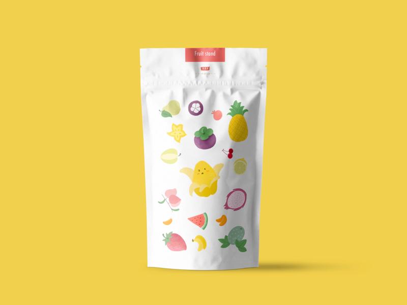Fruit stand illustration