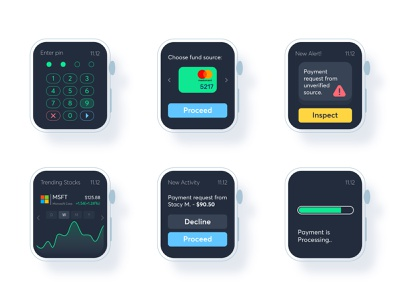 Unifin Watch interfaces mobile app design mobile app app mobile finance app finances finance fintech apple watch design apple watch