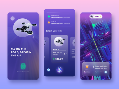 Futuristic Drone taxi concept UI ui ui designs ui  ux user interface design user experience user interface air taxi space taxi ui concept ui design modern scifi sci-fi futuristic ui futuristic futurism
