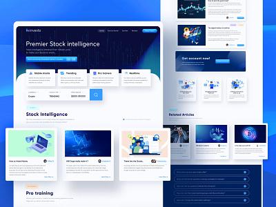 INVESTO Concept Web design responsive blue modern ui stock trading trading finance crypto wallet web design and development website design web designer website web web design agency rebound web design