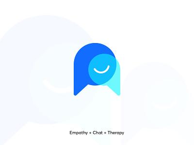 Online Therapy logo mark empathy therapy vector ui illustration abstract illustrator design minimal logo branding modern