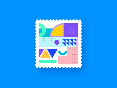 stamp concept geometric minimal graphics conceptual abstract stamp design stamp