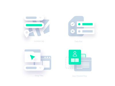 Icon pack WIP logo vector illustration abstract illustrator design minimal branding ui modern soft shapes soft icon icon design icon pack icon