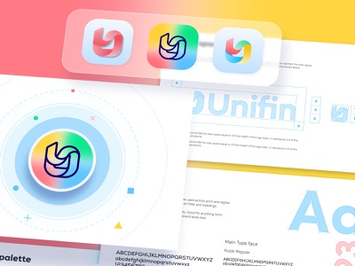 Unifin Brand style guide visual guide style book style guide brand style guide brand agency logo design branding logo