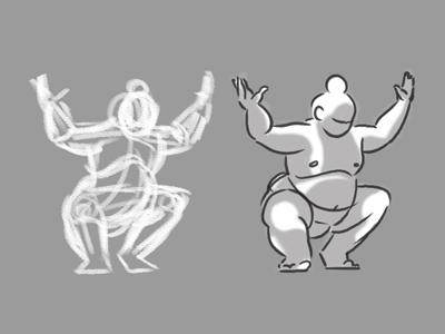 Figure Drawing - Sumo