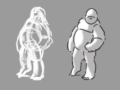Figure Drawing - Gorilla