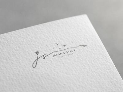 J&S Wedding Logo Design typography logo logo design wedding logo wedding logo design wedding design
