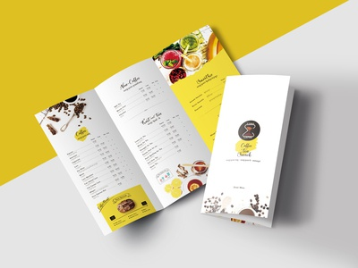Time Lapse Cafe Menu Design