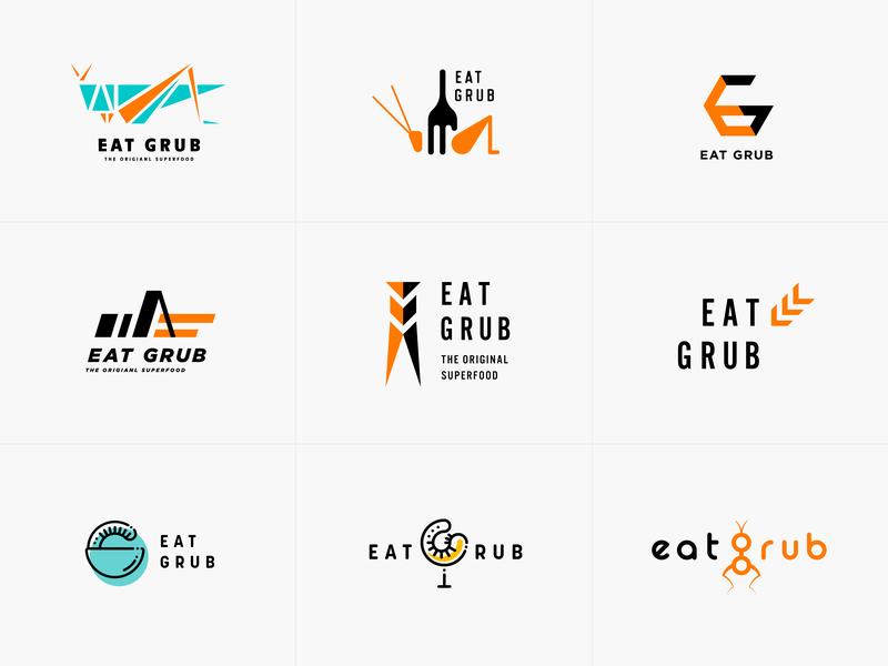 Eat Grub Logos visual identity idenitity brand identity logotype designer logotype design logotypedesign logodesign typogaphy logotype brand design branding concept branding and identity vector typography branding design graphic design design logo design logo branding