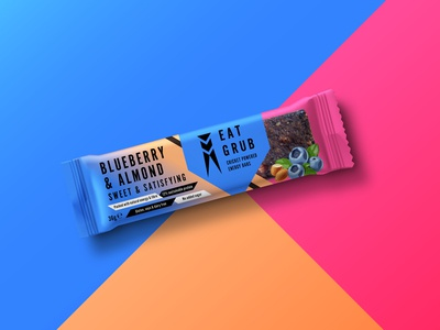 Eat Grub Packaging - Cricket Energy Bars (Blueberry)